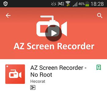 Захват видео с экрана смартфона